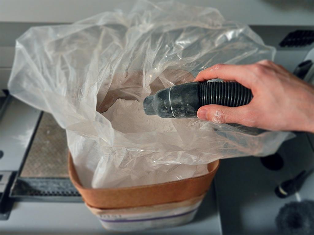 nasavanie prachu do 3D tlačiarne