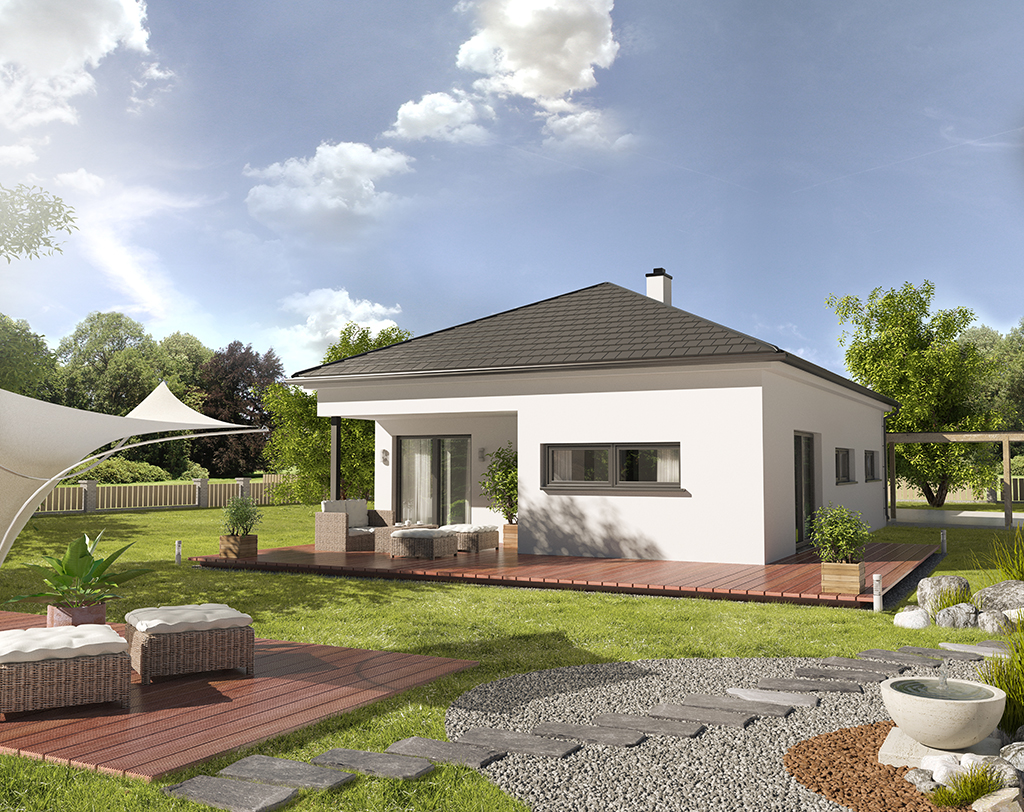 3D visualisation CH Bungalow walmdach