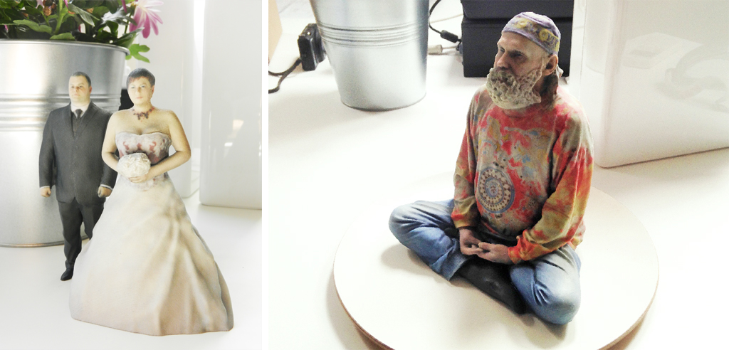 3D printed hippie wedding