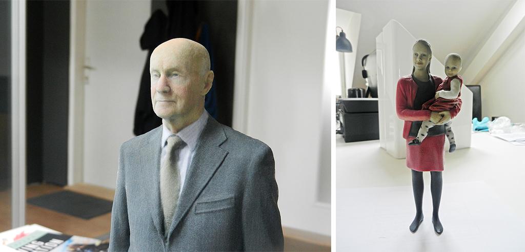 3D printed old man woman
