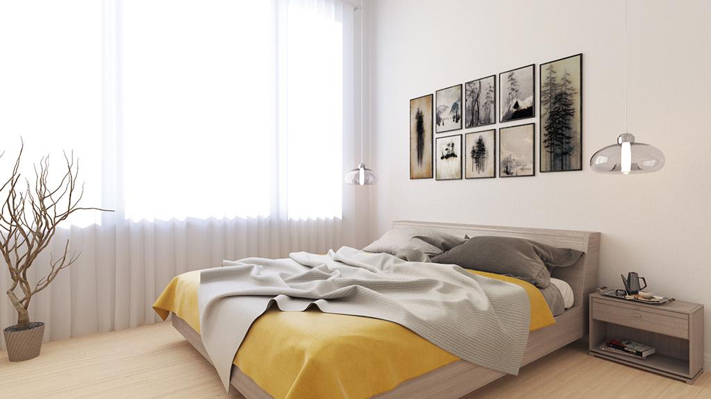 3D visualisation bedroom light