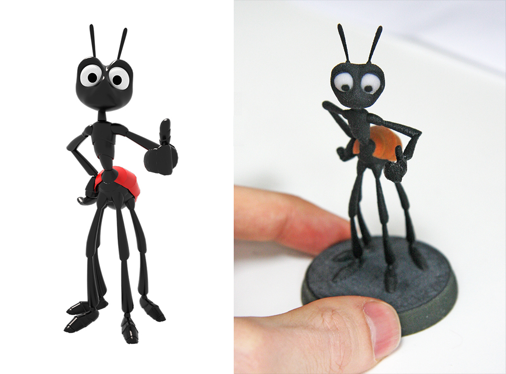 3d printed ant from animation