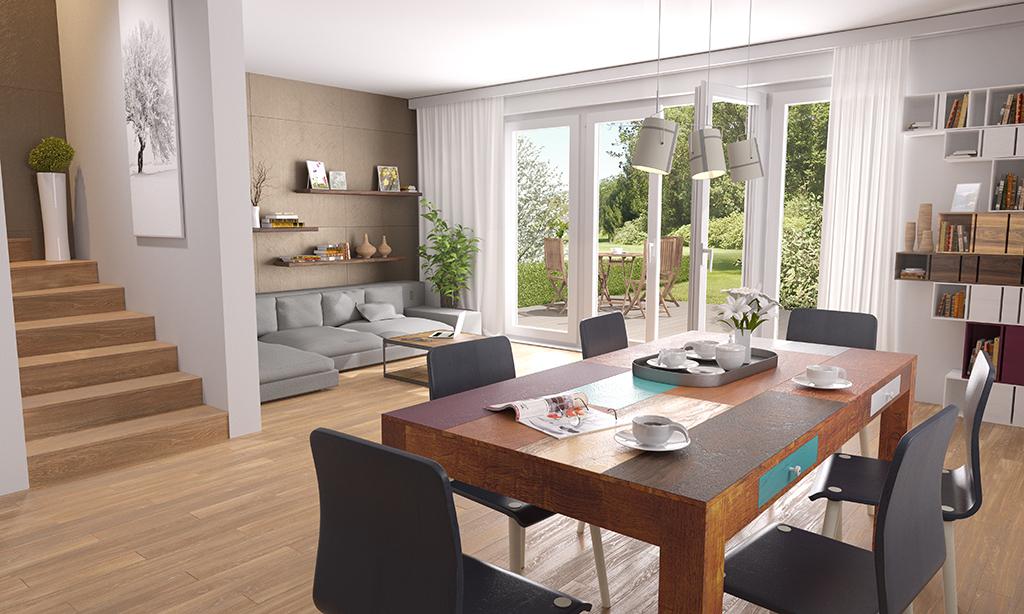 3D visualisation living room