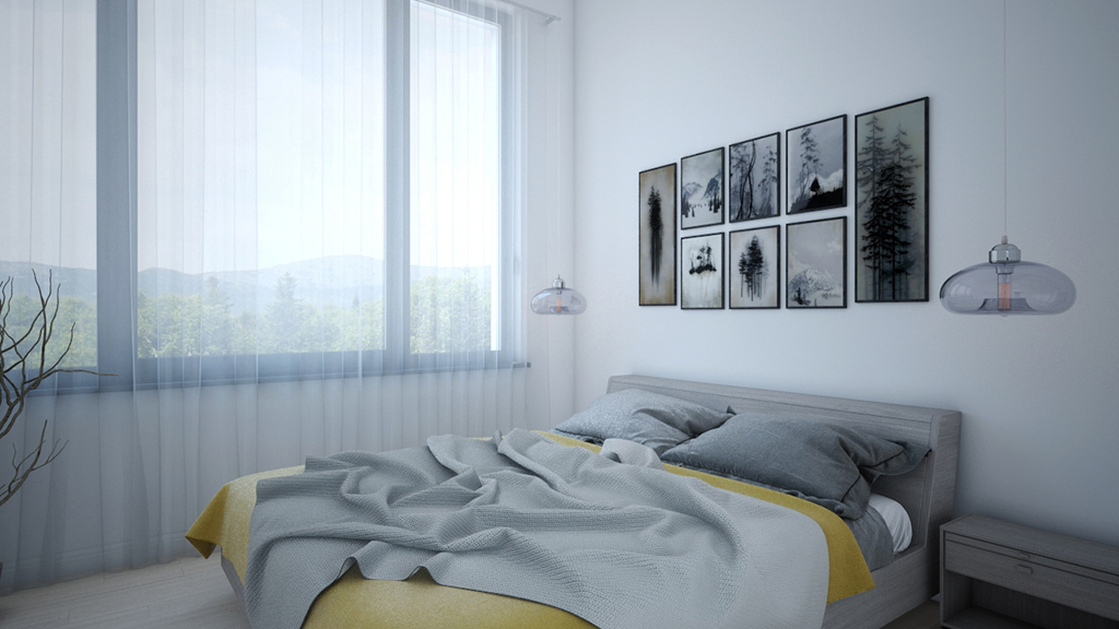 3d visualisation bedroom