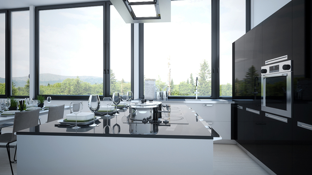 3d visualisation kitchen