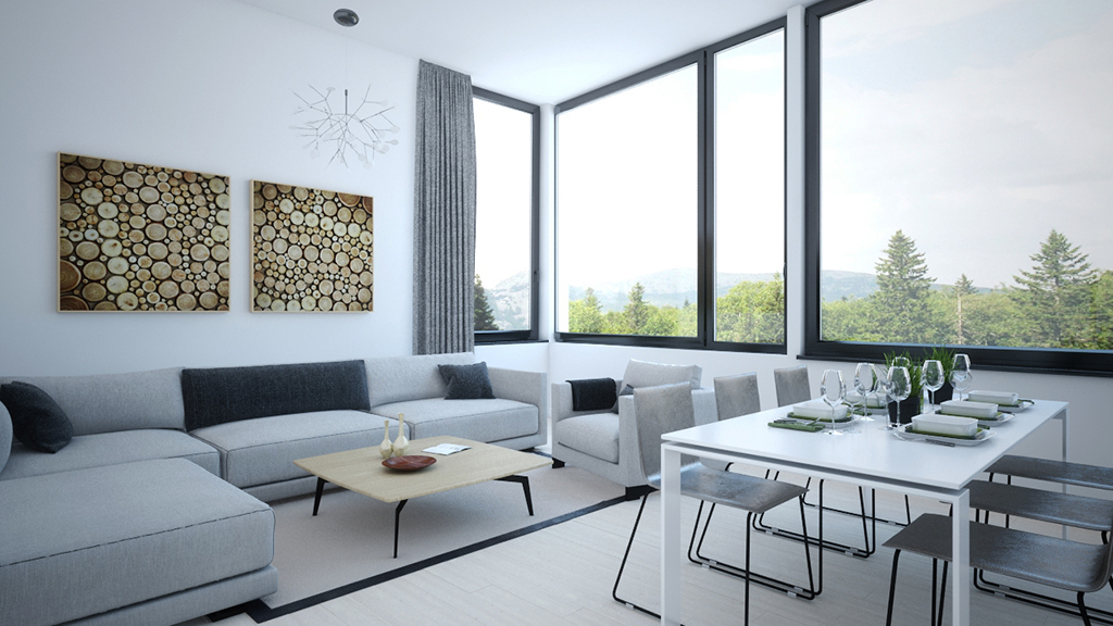 3d visualisation livingroom